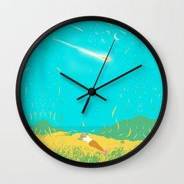 COMET GAZING Wall Clock