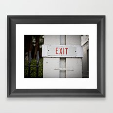 exit::charleston Framed Art Print