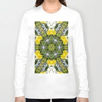 marc johns Long Sleeve T-shirts featuring Kaleidoscope of showy St Johns Wort  by Wendy Townrow