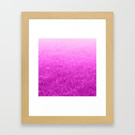Light-to-Dark Pink Ombre Gradient Grass Framed Art Print