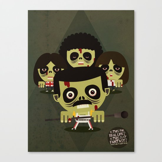 queen zombies Canvas Print