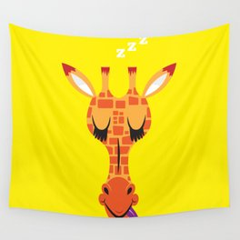 Sleepy Giraffe Wall Tapestry
