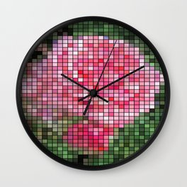 Pink Roses in Anzures 2 Mosaic Wall Clock