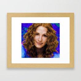 Hollywood - Julia Roberts Framed Art Print
