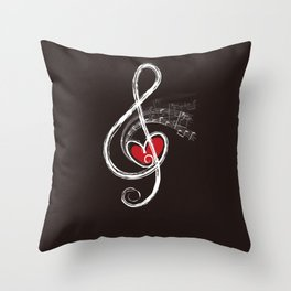 Music And Love Throw Pillow