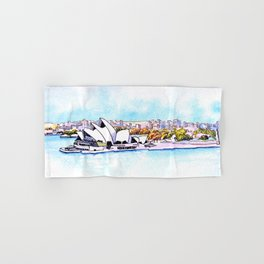 Sydney Opera House Panorama Hand & Bath Towel