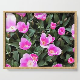 Delicate Pink Tulips Of Istanbul Serving Tray