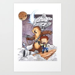 The Boys Calvin and Chewie Art Print