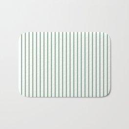 Moss Green Green Pin Stripe on White Bath Mat