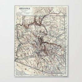 Vintage Map of Arizona (1911)  Canvas Print