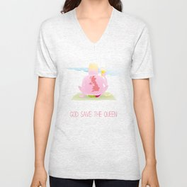 God Save The Queen Unisex V-Neck
