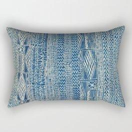 Ndop Cameroon West African Textile Print Rectangular Pillow