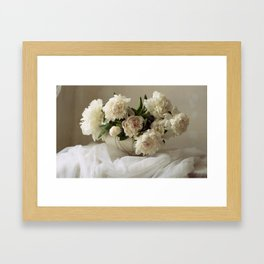 Garden peonies for Justine - wedding bouquet photography Framed Art Print