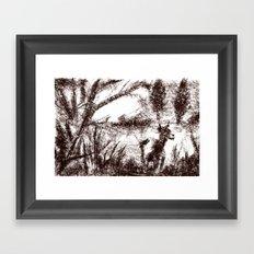 Goat sepia Framed Art Print