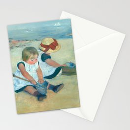 Mary Cassatt, Children Playing on the Beach Stationery Cards