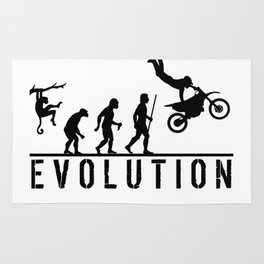 The Evolution Of Man And Dirtbike Stunt Riding Rug