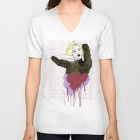 monroe V-neck T-shirts featuring Monroe by ODDITY