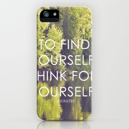 socrates + the wilderness iPhone Case