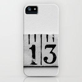 number 13 iPhone Case
