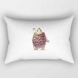 Cute hedgehog. Vector graphic character Rectangular Pillow