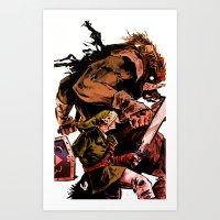 Ganon Battle Art Print