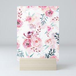 Pink Watercolor Florals I Mini Art Print