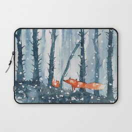 Foxes in forest Laptop Sleeve
