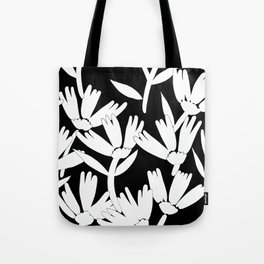 Big daisy black and white Tote Bag