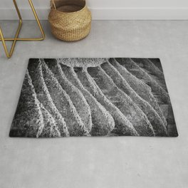 A close-up of the Colosseum | Rome | Black & White Photography | Travel Photography | Photo Print | Art Print Rug