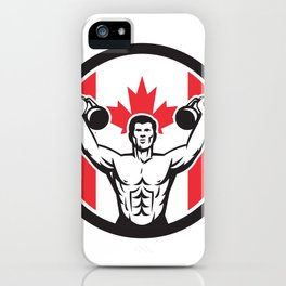 Canadian Physical Fitness Canada Flag Icon iPhone Case