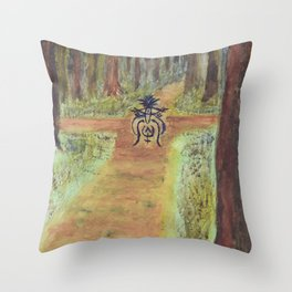 The Watcher at the Crossroads Throw Pillow