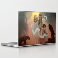 wes anderson Laptop & iPad Skins featuring Wes Andersons - A Bad Dad by Dave Greco