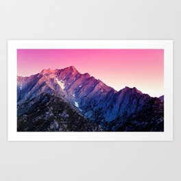 Magnificent Purple Mountainridge Ultra HD Art Print