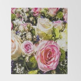 Shabby Roses Throw Blanket