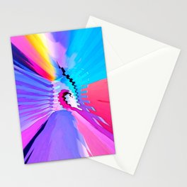 Ocean lovers waves heart bright color geometric abstract#2 Stationery Cards