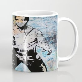 Elvis The King Blue Suede Shoes Coffee Mug