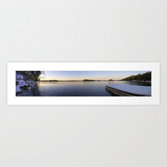 Frozen Sydenham Lake Sunset Art Print