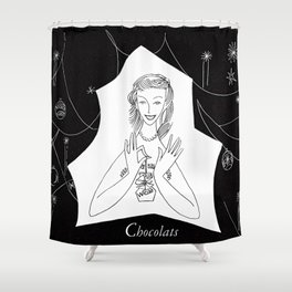Chocolat Shower Curtain