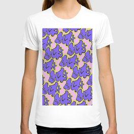 Stay Graffiti Pattern - Purple Groove T-shirt