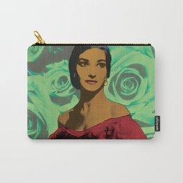 Maria Callas in Aqua Green Carry-All Pouch