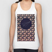 plane Tank Tops featuring FLORAL PLANE by MGNFQ