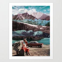 Planning the next trip Art Print