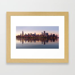 Panorama of the City skyline of Chicago Framed Art Print