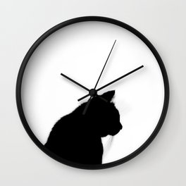 Black cat silhouette Wall Clock