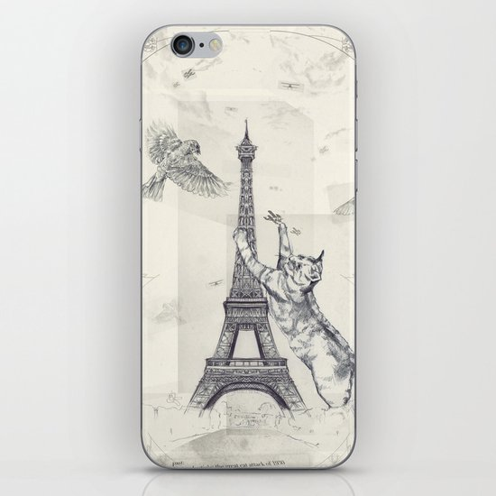 cat attack iPhone & iPod Skin