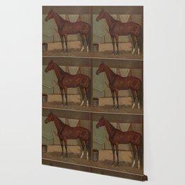 Vintage Race Horse Illustration (1882) Wallpaper