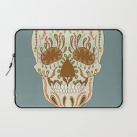 calavera Laptop Sleeves featuring CALAVERA by Nora
