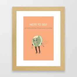 Brussels Sprouts Framed Art Print