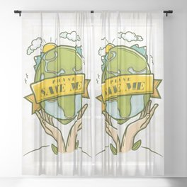 Save the Earth Sheer Curtain