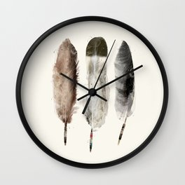native feathers Wall Clock
